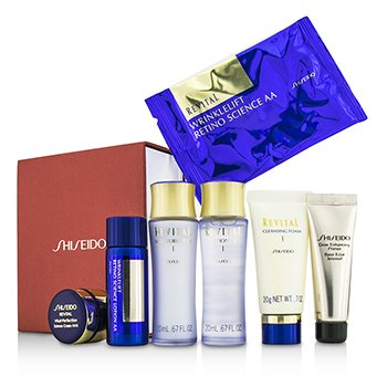 Shiseido Revital Set: Cleansing Foam I + Lotion EX I  + Moisturizer EX I  + Primer + Lotion AA  + Cream AAA  + Eye Mask 1pair  7pcs