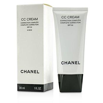 Chanel Crema CC Corrección Completa SPF 50/PA++++ # 30 Beige  30ml/1oz