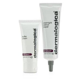 Dermalogica Age Smart Set: Overnight Retinol Repair 30ml + Buffer Crema 15ml  2pcs