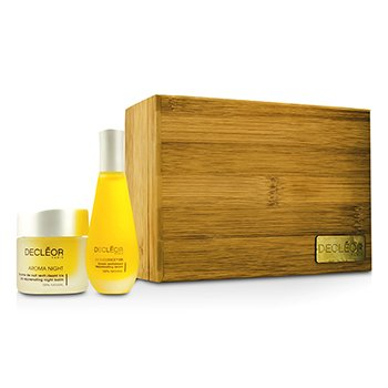 Decleor Aroma Iris Coffret: Aromessence Iris Rejevenating Serum 15ml + Aroma Night Iris Night Balm 15ml  2pcs