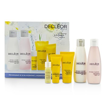 Decleor Hydration Starter Kit: Cleansing Milk 75ml + Tonifying Lotion 75ml + HydraFloral Cream 15ml + Neroli Serum 5ml + Neroil Balm 5ml  5pcs