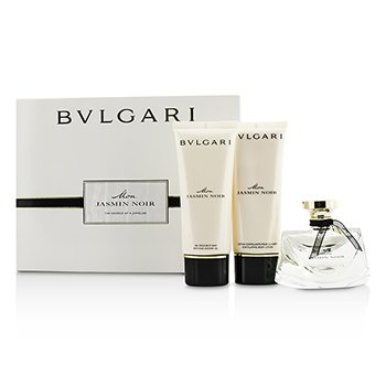 Bvlgari Mon Jasmin Noir Coffret: Eau De Parfum Spray 75ml/2.5oz + Gel de Ducha & Baño 100ml/3.4oz + Loción Corporal 100ml/3.4oz  3pcs
