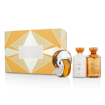 Bvlgari Omnia Indian Garnet Coffret: Eau De Toilette Spray 40ml/1.35oz + Loción Corporal 40ml/1.35oz + Gel de Ducha & Baño 40ml/1.35oz  3pcs