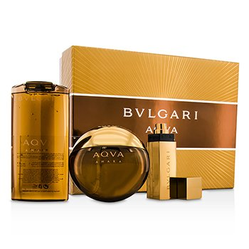 Bvlgari Aqva Amara Coffret: Eau De Toilette Spray 100ml/3.4oz + Champ� & Gel de Ducha 200ml/6.8oz + Eau De Toilette Spray 15ml/0.5oz  3pcs