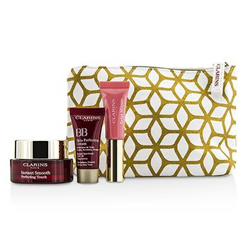 Clarins Zestaw do makijażu Touch Of Magic Set: 1x Instant Smooth Perfecting Touch + 1x Lip Perfector + 1x BB Perfecting Cream  3pcs+1bag