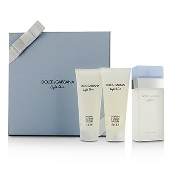 Dolce & Gabbana Light Blue Gift Coffret: Eau De Toilette Spray 100ml/3.3oz + Crema Corporal 100ml/3.3oz + Gel de Ducha & Baño 100ml/3.3oz  3pcs