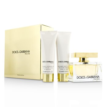 Dolce & Gabbana The One Coffret: Eau De Parfum Spray 75ml/2.5oz + Loci�n Corporal 50ml/1.6oz + Gel de Ducha 50ml/1.6oz  3pcs