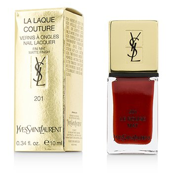 Yves Saint Laurent La Laque Couture Esmalte U�as The Mats - # 201 Le Rouge Mat  10ml/0.34oz