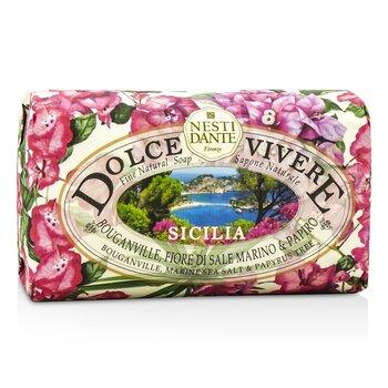 Nesti Dante Dolce Vivere Fine Natural Soap - Sicilia - Bouganville, Marine Sea Salt & Papyrus Tree  250g/8.8oz