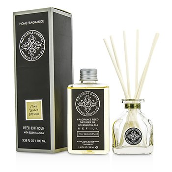 The Candle Company Reed Diffuser with Essential Oils - Stone Washed Driftwood  100ml/3.38oz