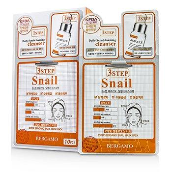 Bergamo 3Step Bergamo Mask Pack - Snail  10pcs