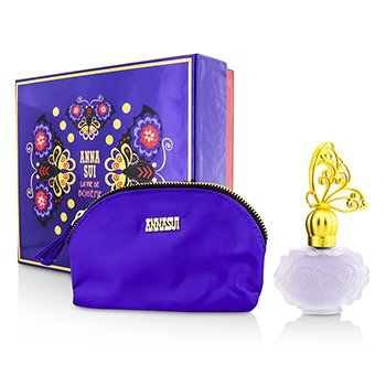Anna Sui La Vie De Boheme Coffret: Eau De Toilette Spray 30ml/1oz + Cosmetic Pouch  1pc+1pouch