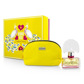 Anna Sui Flight Of Fancy Coffret: Eau De Toilette Spray 30ml/1oz + Bolsa Para Cosméticos  1pc+1pouch