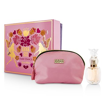 Anna Sui Secret Wish Fairy Dance Coffret: Eau De Toilette Spray 30ml/1oz + Bolsa Para Cosméticos  1pc+1pouch