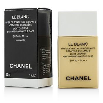 Chanel Rozjaśniająca baza pod makijaż Le Blanc Light Creator Brightening Makeup Base SPF40 - #20 Mimosa  30ml/1oz