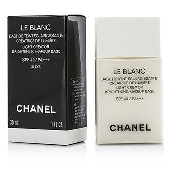 Chanel Le Blanc Light Creator Brightening Makeup Base SPF40 - #30 LYS  30ml/1oz