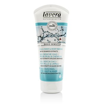 Lavera Basis Sensitiv 2 in 1 Hair & Body Wash with Seaweed Extracts  200ml/6.6oz