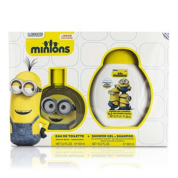 Air Val International Minions Coffret: Eau De Toilette Spray 100ml/3.4oz + Shower Gel & Shampoo 300ml/10.2oz  2pcs