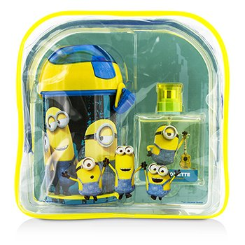 エアバルインターナショナル Minions Coffret: Eau De Toilette Spray 50ml/1.7oz + Water Bottle + Backpack  2pcs+1bag