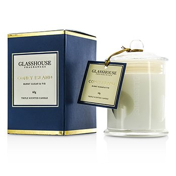 Glasshouse Triple Scented Candle - Coney Island (Burnt Sugar & Fig)  60g