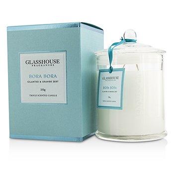 Glasshouse Triple Scented Candle - Bora Bora (Cilantro & Orange Zest)  350g