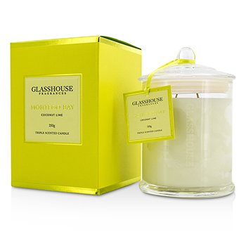 Glasshouse Triple Scented Candle - Montego Bay (Coconut Lime)  350g
