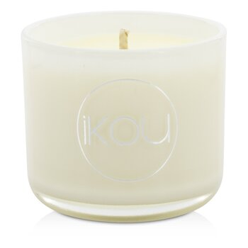 iKOU Eco-Luxury Aromacology Natural Wax Candle Glass - Calm (Lemongrass & Lime)  (2x2) inch