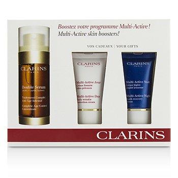 Clarins Multi-Active Skin Boosters: Doble Suero 30ml +Crema D�a 15ml + Crema Noche 15ml  3pcs