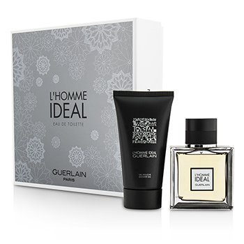 Guerlain L'Homme Ideal Coffret: Eau De Toilette Spray 50ml/1.6oz + Gel de Ducha 75ml/2.5oz  2pcs