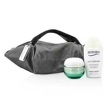 Biotherm Zestaw Aquasource & Body Care X Mandarina Duck Coffret: Cream N/C 50ml + Anti-Drying Body Care 100ml + Handle Bag  2pcs+1bag