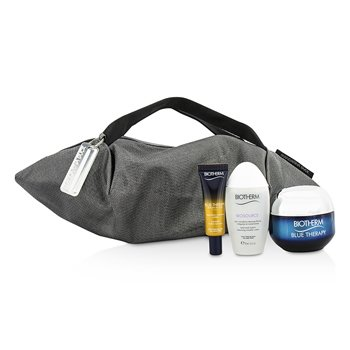 Biotherm Blue Therapy X Mandarina Duck Coffret: Cream SPF15 N/C 50ml + Serum-In-Oil 10ml + Cleansing Water 30ml + Handle Bag  3pcs+1bag
