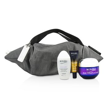 Biotherm Blue Therapy Lift & Blur X Mandarina Duck Coffret: Crema 50ml + Suero En Aceite 10ml + Agua Limpiadora 30ml + Bolsa  3pcs+1bag