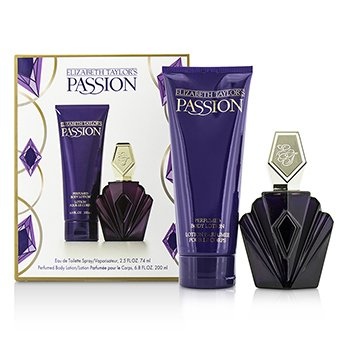Elizabeth Taylor Passion Coffret: Eau De Toilette Spray 74ml/2.5oz + Body Lotion 200ml/6.8oz  2pcs