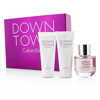 Calvin Klein Downtown Coffret: Eau De Parfum Spray 90ml/3oz + Loci�n Corporal 100ml/3.4oz + Gel de Ducha 100ml/3.4oz  3pcs
