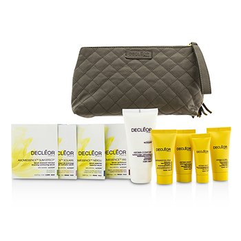 Decleor Travel Set: Day Cream 15ml + Rich Cream 15ml + Night Cream 15ml + Night Balm 5ml + Body Milk 50ml + 4 Samples + Bag  9pcs+1bag