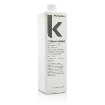 Kevin.Murphy Young.Again.Masque (Immortelle and Baobab Infused Restorative Softening Masque - To Dry Damaged or Brittle Hair)  1000ml/33.6oz