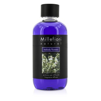 Millefiori Natural Fragrance Diffuser Refill - Melody Flowers  250ml/8.45oz