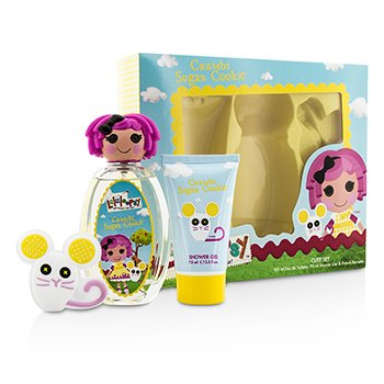 Lalaloopsy Crumbs Sugar Cookie Cute Coffret: Eau De Toilette Spray 100ml/3.4oz + Shower Gel 75ml/2.5oz + French Barrette  3pcs