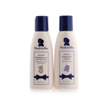 ヌードル&ブー Bundle Of Joy Set: Newborn 2-in-1 Hair & Body Wash 59ml/2oz + Super Soft Lotion 59ml/2oz  2pcs