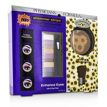 Physicians Formula ชุดแต่งหน้า Makeup Set 8660: 1x อายแชโดว์ Shimmer Strips Eye Enhancing Shadow, 1x Bontanical Bronzer, 1x แปรง Applicator  3pcs