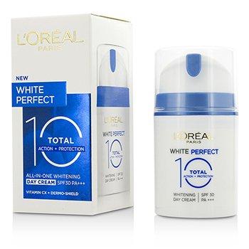 L'Oreal White Perfect Total 10 Whitening Day Cream SPF 30 ok  50ml/1.69oz