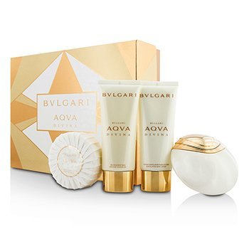 Bvlgari Aqva Divina Coffret: Eau De Toilette Spray 65ml/2.2oz + Body Lotion 100ml/3.4oz + Shower Gel 100ml/3.4oz + Soap 150g/5oz  4pcs