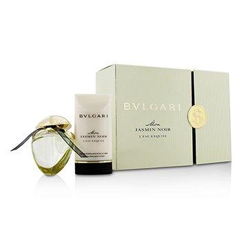 Bvlgari Mon Jasmin Noir L' Eau Exquise Coffret: Eau De Parfum Spray 25ml/0.84oz + Loci�n Corporal 75ml/2.5oz  2pcs