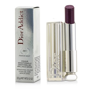 Christian Dior Dior Addict Hydra Gel Core Сияющая Губная Помада - #881 Fashion Night  3.5g/0.12oz