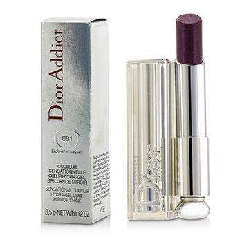 Christian Dior Dior Addict Hydra Gel Core Mirror Shine Lipstick - #881 Fashion Night  3.5g/0.12oz