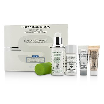 Sisley Botanical D-Tox Detoxifying Discovery Programa: Botanical D-Tox 30ml + Demaquillante 30ml + Mascarilla 10ml + Reductor Poros 10ml  4pcs