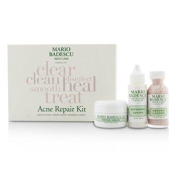 Mario Badescu Acne Repair Kit: Drying Lotion 29ml + Drying Cream 14g + Buffering Lotion 29ml  3pcs