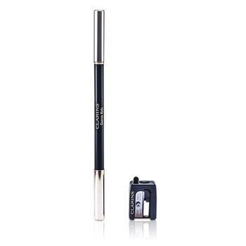 Clarins Long Lasting Eye Pencil with Brush - # 01 Carbon Black (With Sharpener)  1.05g/0.037oz