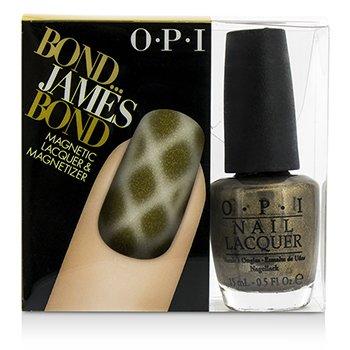 O.P.I Magnetic Laklar və Yapışdırıcılar - #Bond...James Bond