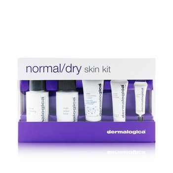 Dermalogica Set Piel Normal/Seca: Limpiador + Tónico + Smoothing Crema + Exfoliante + Eye Reapir  5pcs